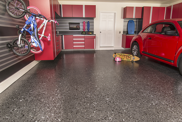 Carbon Brindle Flake Epoxy Flooring